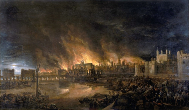 Great Fire of London destroys two-thirds of the city