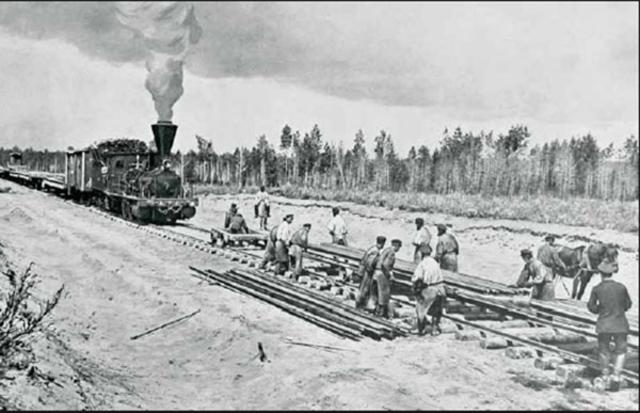 Начало строительства Транссибирской магистрали