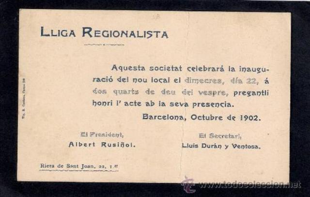 Lliga Regionalista.