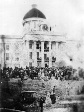 Jefferson Davis Inaugurated