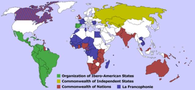 Modelos respecto a grandes Imperios Coloniales-Descolonización.