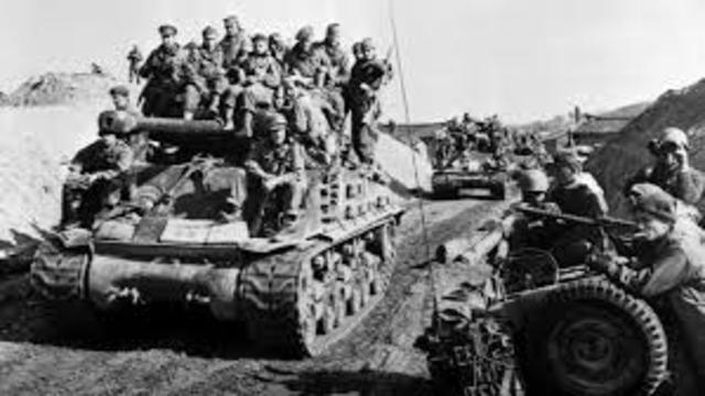 La guerra de Corea.