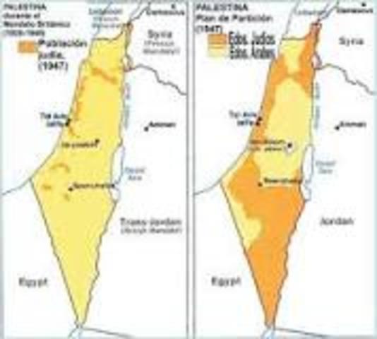 Fin del mandato de Gran Bretaña en Palestina.