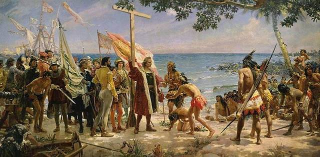 Arrival of Christopher Colombus to America