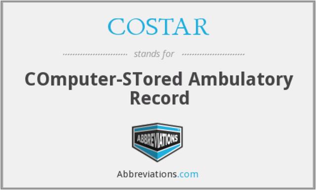 COSTAR (Computer Stored Ambulatory Record)