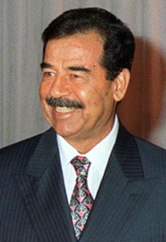 Sadam Hussein.