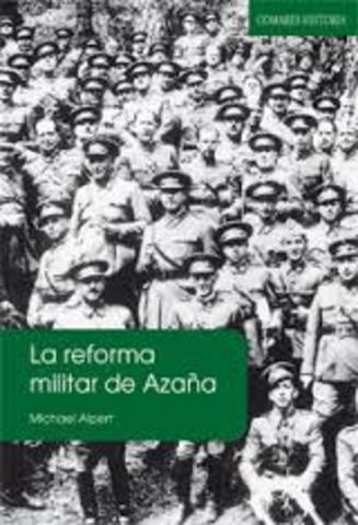 REFORMA MILITAR DE MANUEL AZAÑA