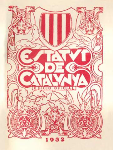 Estatuto de autonomía de Cataluña (1932).También conocido como ''Estatuto de Nuria''