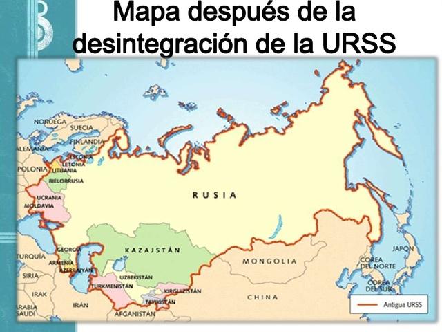Desintegracion de la URSS