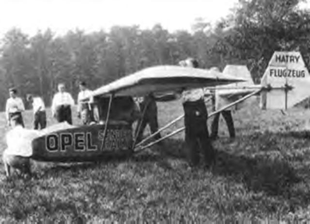 A rocket powered aircraft