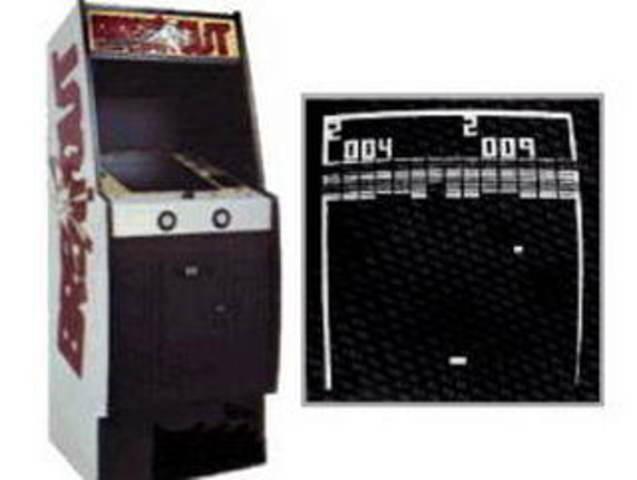 Игровой автомат с игрой «Breakout».