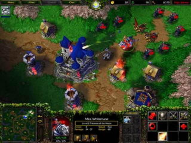 Выходит стратегия в реальном времени – «Warcraft III».