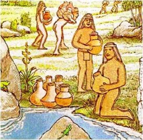 Indígenas y chicha