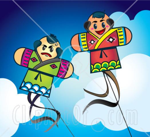 B.C The kite-China