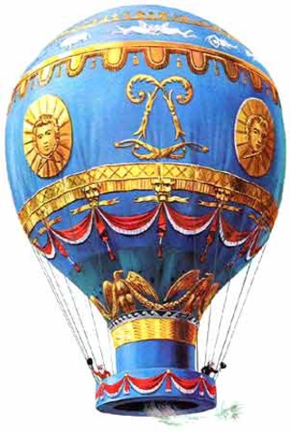 Hot air Balloon- The Montgolfier brothers