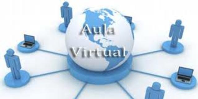 Aparición de las aulas virtuales de aprendizaje