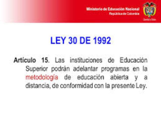 Reglamentación de la metodología de educación a distancia
