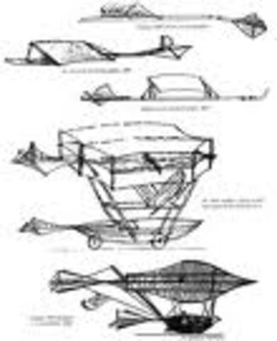 Sir George Cayley, England- studies animal flight, designed monoplane glider for human