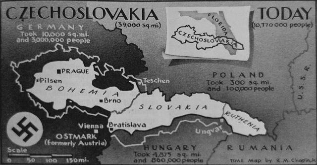 Germany breaks the Munich Agreement and occupies the rest of Czech lands