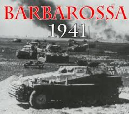 Germany invades the Soviet Union- Operation Barbarossa
