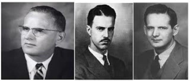 Oswald Theodore Avery, Colin McLeod y Maclyn McCarty demuestran que el ADN es el material genético (denominado entonces principio transformante)