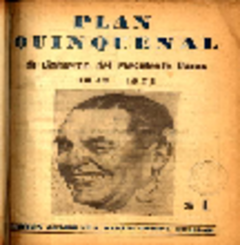 1° PLAN QUINQUENAL - JUAN DOMINGO PERÓN
