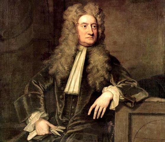 Isaac Newton formula la teoria de la gravitacion universal