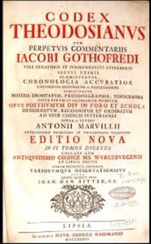 Código Teodosiano.