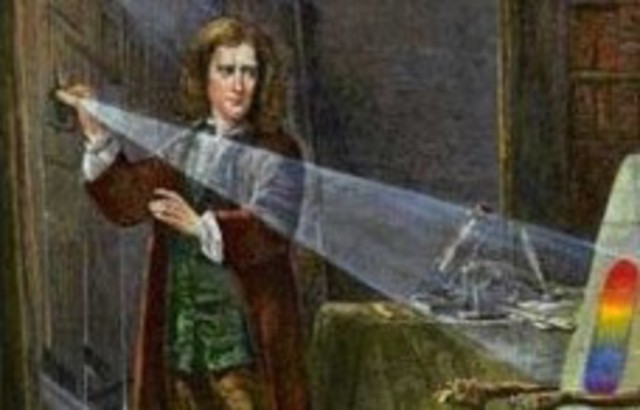 Isaac Newton and Prism Experiment