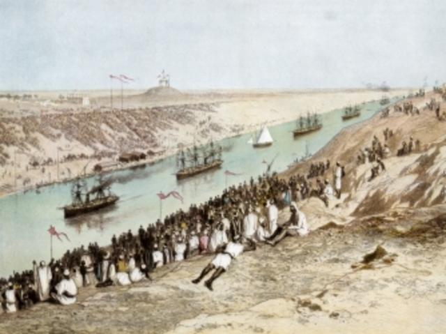 Suez kanalen åbnes