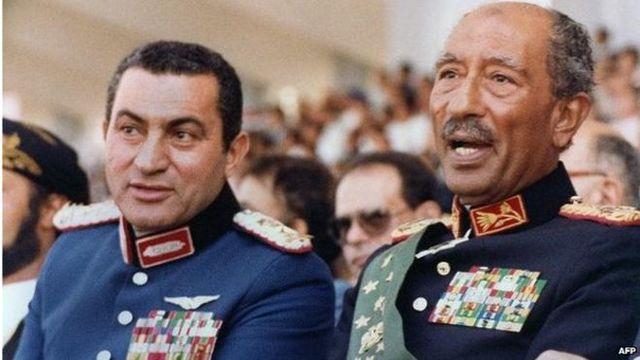 Husni Al-Mubarak overtager magten