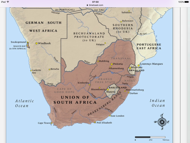 Union of South Africa was declared a country