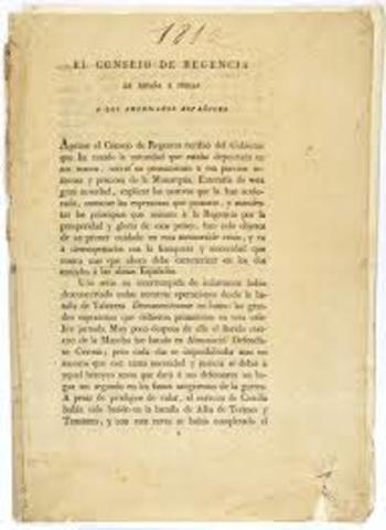 Decreto del Supremo Consejo de Regencia