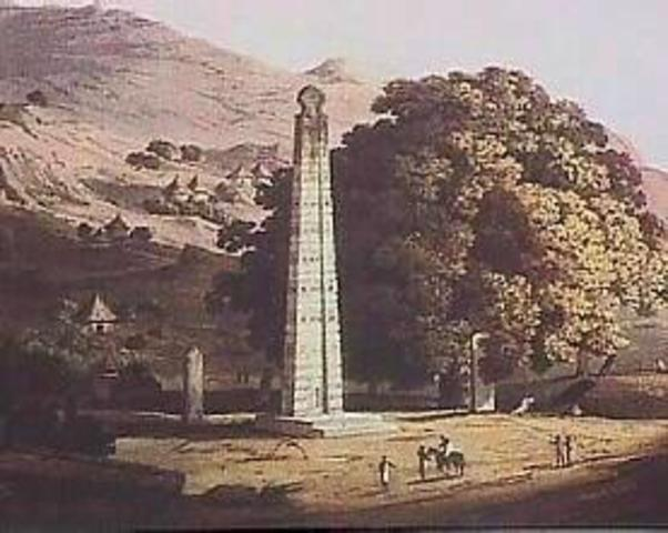 The Kingdom of Axum takes hold in East Africa