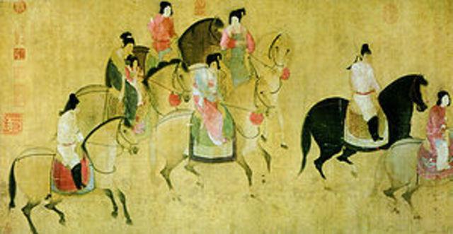 The Tang dynasty unites China