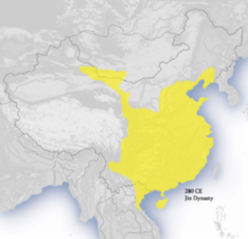 Foreign Jin kingdom takes control of northern China