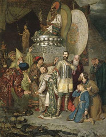 Genghis Khan's grandson, Batu, leads amies into Russia