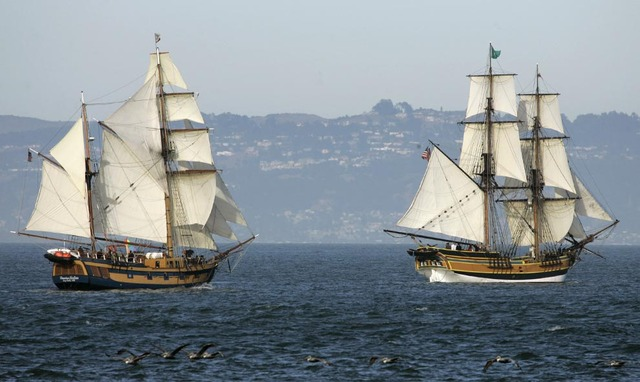 Several ships full of tea sailed from England to Boston.