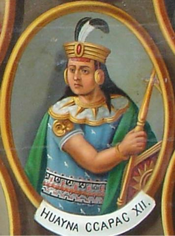 Last great Sapa Inca, Huayna Capac, takes power