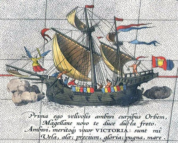 Magellan's expedition circumnavigates the globe