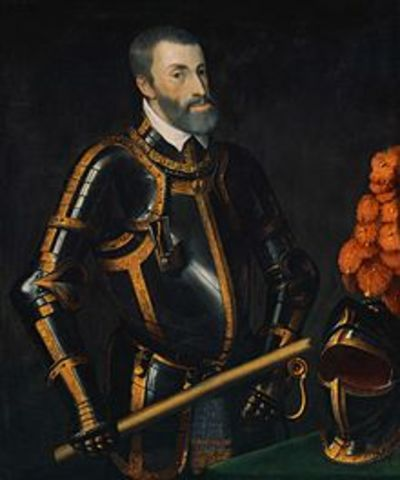 Charles V becomes the king of Spain