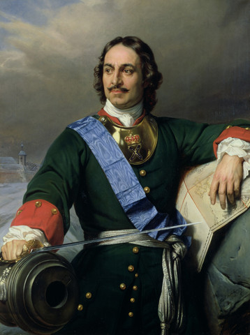 Peter the Great becomes tsar of Russia