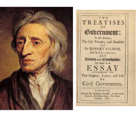 John Locke's Two Treatises of Government is published