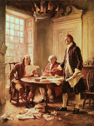 The U.S. Declaration of Independence is written
