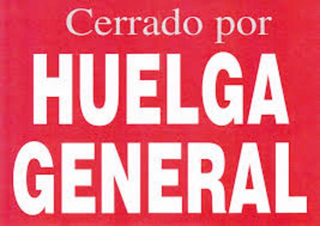 FRACASO DE HUELGA GENERAL