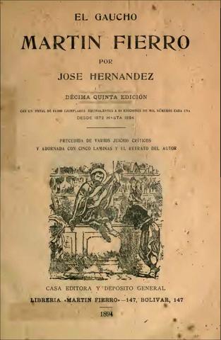 El gaucho Martín Fierro (José Hernández)