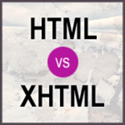 HTML vrs XHTML