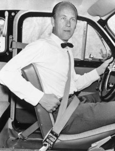First seatbelt installed