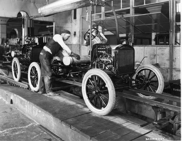 Henry Ford applied the concept of assembly line production