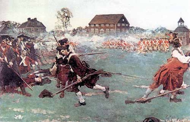 The war moves to Lexington and Concord.